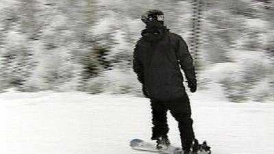 Snowboarder At Wildcat Mountain