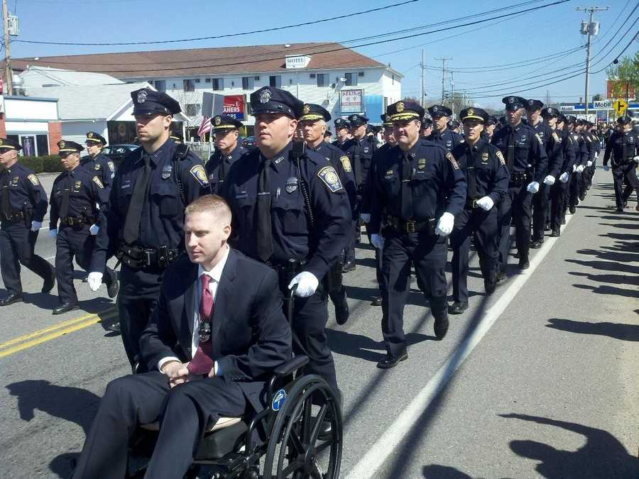 Manchester Officer Dan Doherty, who was shot several times in March, leads the Manchester police.