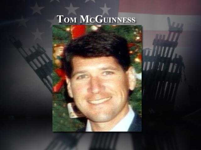 Tom McGuinness, 42, of Portsmouth, was the co-pilot of American Airlines flight 11, which crashed into the North Tower of the World Trade Center. McGuinness, a former fighter pilot, had celebrated his birthday just days earlier with his wife Cheryl and their teenage children, Jennifer and Tommy.