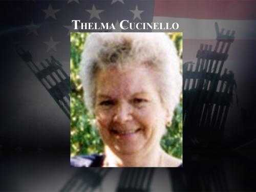 Thelma Cucinello, 71, of Wilmot, was taking flight 11 to California to visit her sister. Cucinello was survived by her husband, three grown daughters, and ten grandchildren.