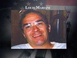 """Louis Neil Mariani, 59, of Derry, placed his wife Ellen on one plane and said, """"I'll be there 3 minutes after you."""" He left, then returned to give his wife a third hug and kiss before he boarded flight 175. Mariani was on a plane separate from his wife as they headed to his step daughter's wedding in California. The wedding went on in his honor."""