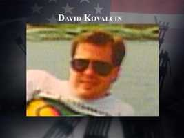 David Kovalcin, 42, lived in Hudson with his wife and their 15-month-old and 4-year-old daughters. Kovalcin worked at Raytheon and was on flight 11 on Sept. 11, 2001. Before leaving for the airport that morning, Kovalcin left a short note telling his family that he would see them on Friday night.