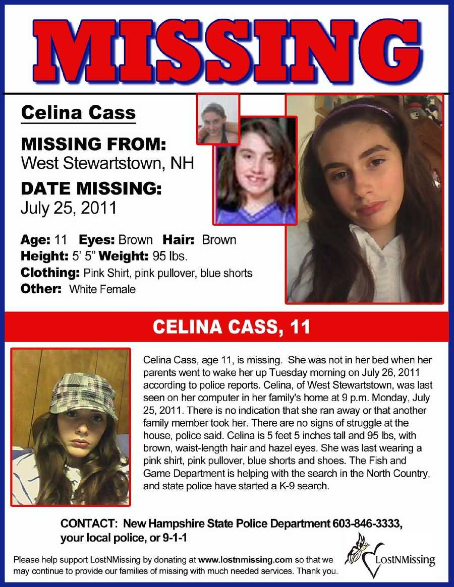 """Cass's face was spotted all over the region on these """"Missing"""" posters."""