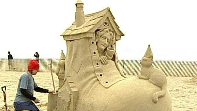 Artists at Hampton Beach Compete in Sand Sculpting Competition