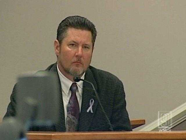 Oct. 27, 2010 - A grim but composed David Cates took the stand Wednesday in the trial of a man charged with killing his wife and attacking his daughter with a machete.