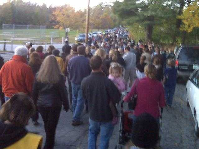 Oct. 7, 2009 - Friends, family and strangers converge at a candlelight vigil to mourn Kimberly Cates.