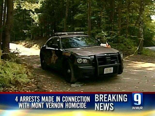 Oct. 6, 2009 - Four people were arrested in connection with the Mont Vernon killing. Steven Spader, Christopher Gribble, William Marks and Quinn Glover were taken into custody two days after Kimberly Cates was found dead.