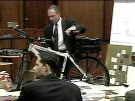 A Manchester police bicycle used the night Officer Briggs was shot.