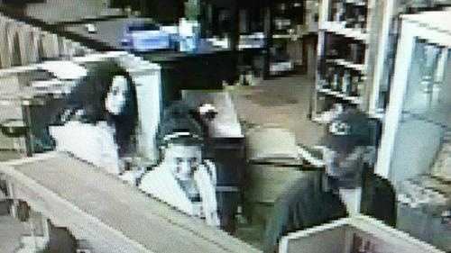 Surveillance picture of suspects in theft of Civil War-era sword