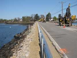 Work being done: The project involves the replacement of 2,700 linear feet of cable guardrail and slope stabilization. The section of roadway will also be repaved.