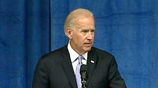 Joe Biden at Keene State College