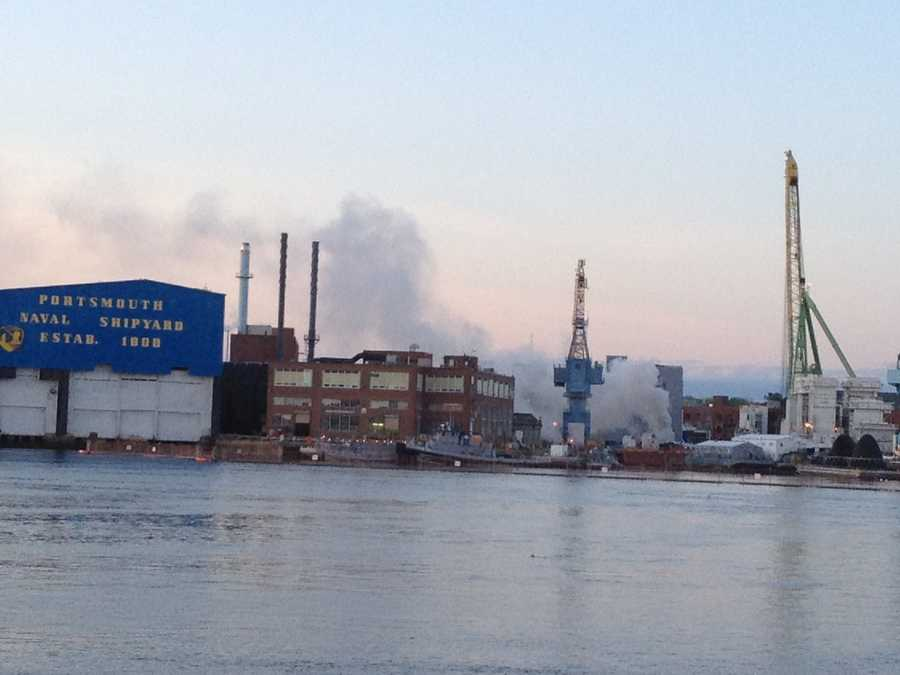 Fire crews responded Wednesday to the USS Miami SSN 755 at the Portsmouth Naval Shipyard on an island in Kittery, a town near Portsmouth, N.H., popular with tourists.