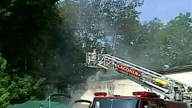 Fire in Laconia being investigated as arson.