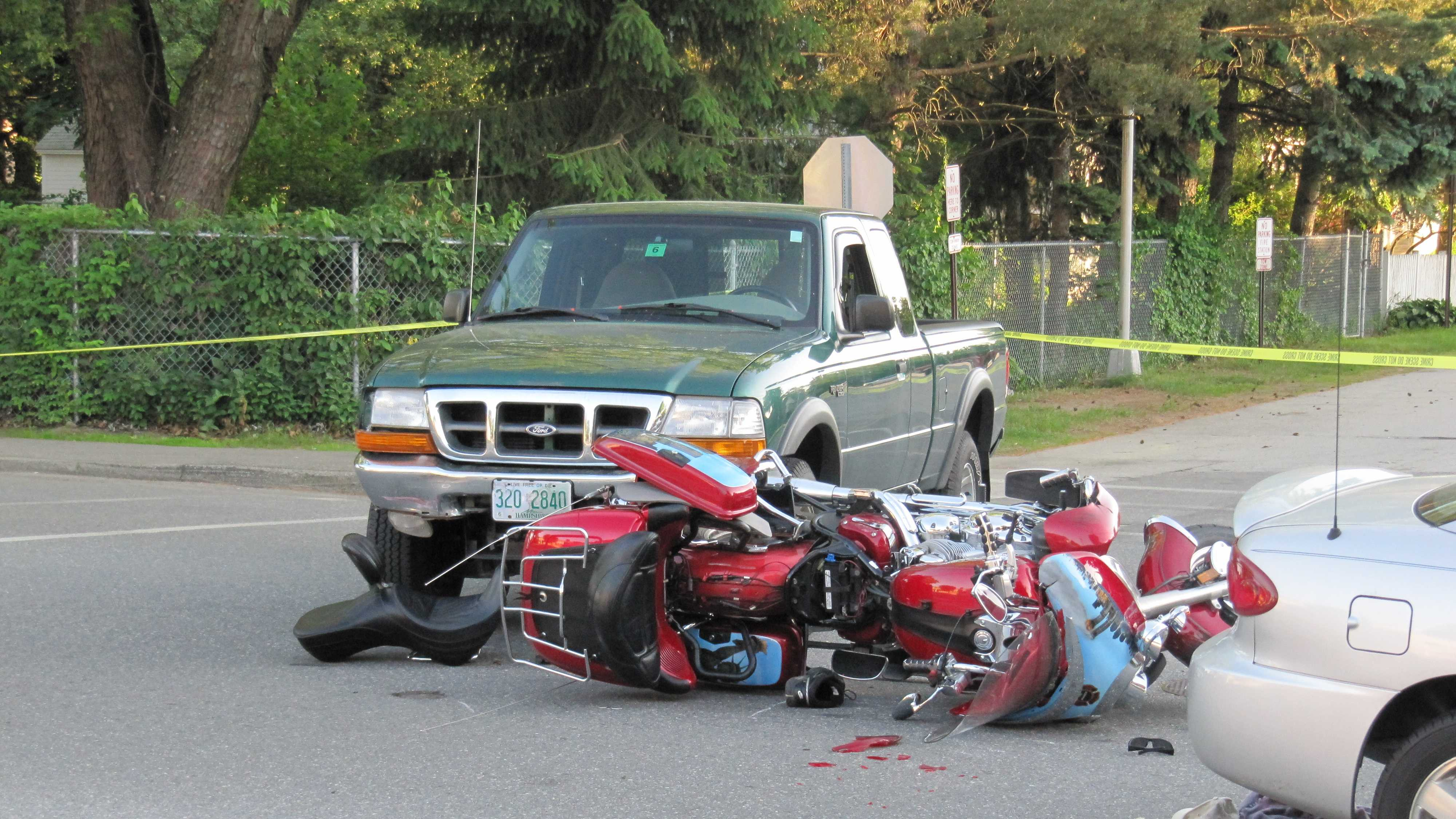 A Massachusetts man was seriously hurt in an accident in Hudson when his motorcycle collided with a truck.