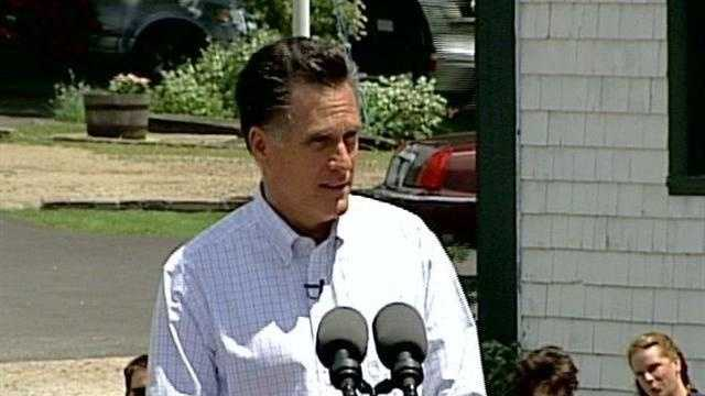 Mitt Romney announces his campaign for president at Scamman Farm in Stratham on June 2, 2011.