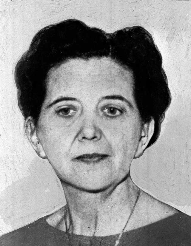 """Anna E. Slesers, 55, was sexually molested with unknown object and strangled with the cord on her bathrobe. She found on June 14, 1962 and is the first """"Strangler victim."""""""