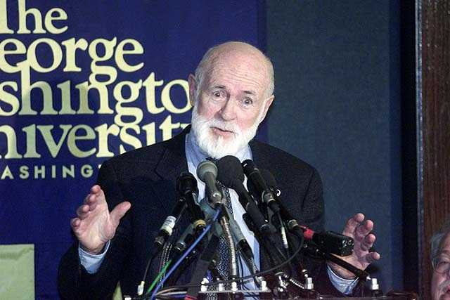 James Starrs, a professor of forensic science and law at George Washington University gestures during a news conference in Washington Thursday, Dec. 6, 2001 where he announced that DNA evidence taken from one of the women killed by the Boston Strangler does not match that of Albert DeSalvo.