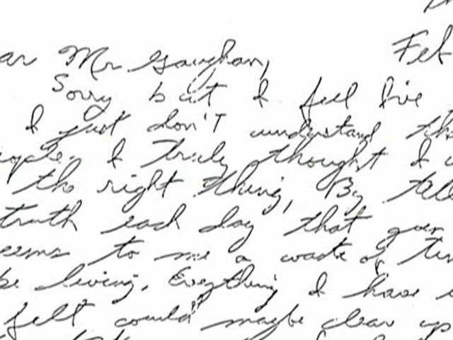 DeSalvo left a letter for the prison superintendent. Many interpret it as a confession to the Strangler killings.