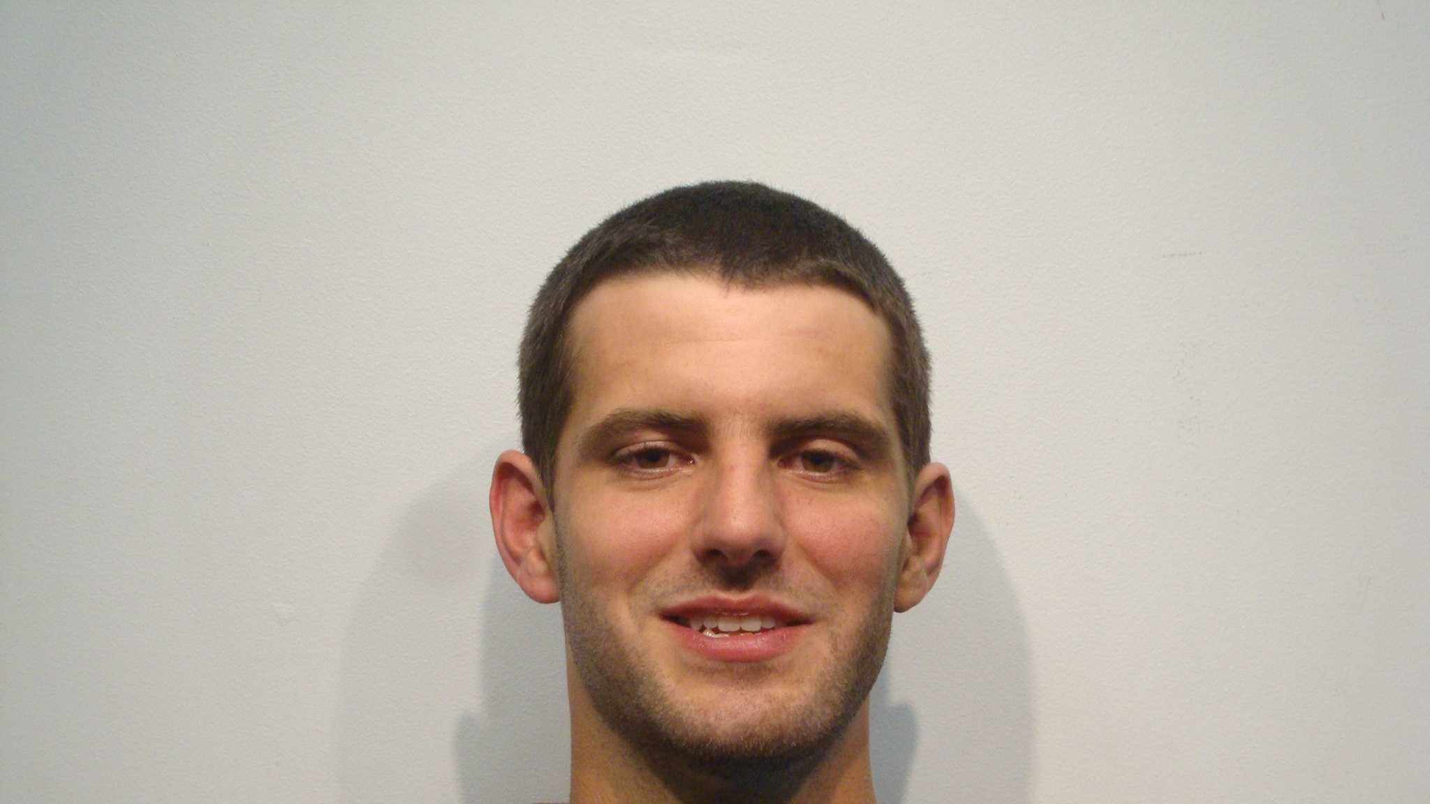Aaron Bickford was arrested for assaulting a police officer in Rochester early Sunday.