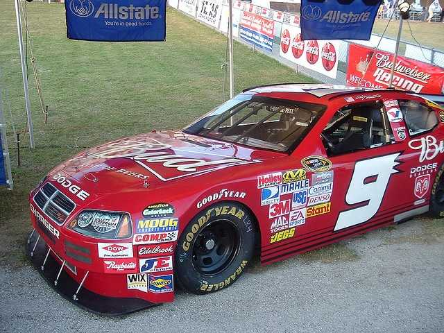 Kasey Kahne in his old car. He's now sponsored by Farmers Insurance, and will be racing for Nashua on July 15.