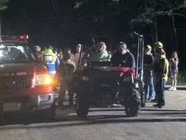 Crews were able to successfully reunite a 19-month-old boy with his parents after an extensive search in the woods of Farmington on Thursday night.