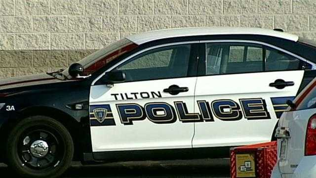 Tilton police were searching for a wanted suspect Friday night