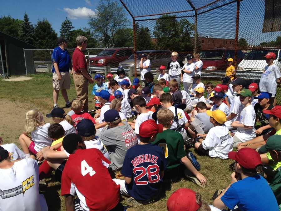 Gov. Lynch addresses the baseball camp.