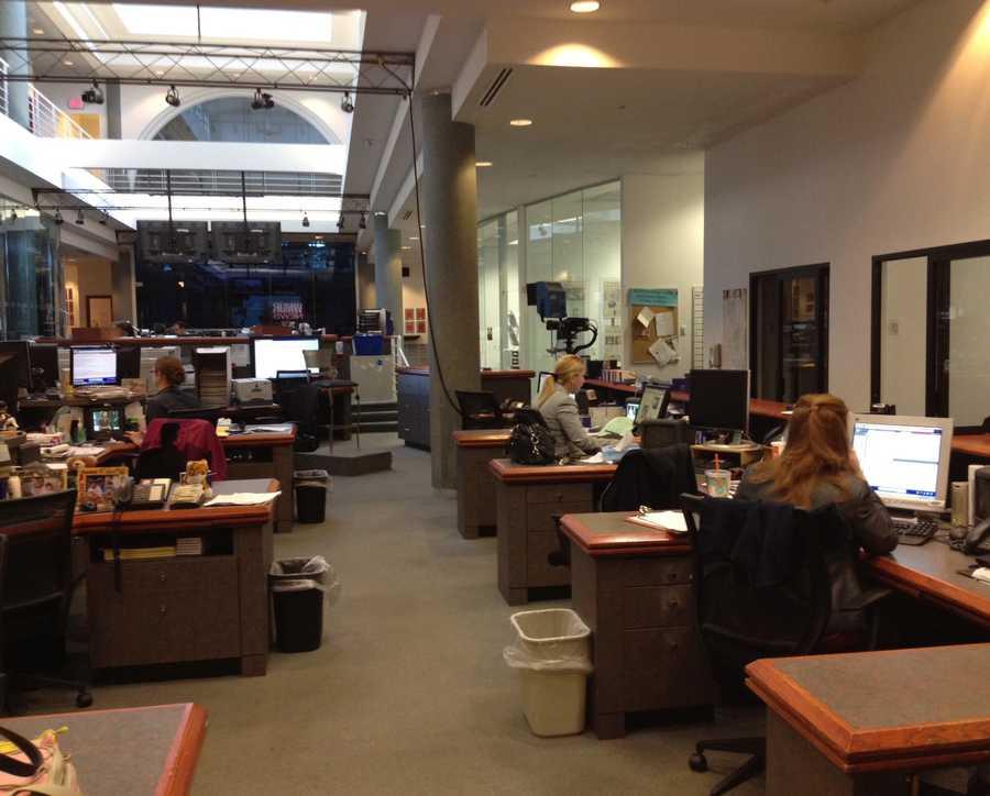 3:12 pm: Jean Mackin, Jennifer Vaughn and producer Alyssa Jewell are hard at work.