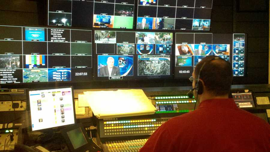 10:22 pm: Director Sam Venator at the controls.