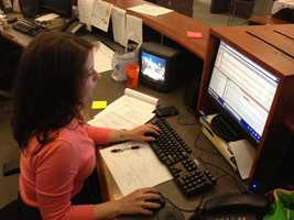 12:09 am: The work doesn't stop after the news. Producer Lisa Thalhamer is back at her desk.