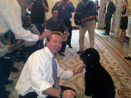 Josh and White House dog Bo