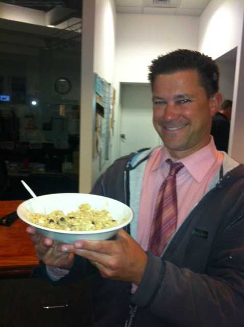 Kevin Skarupa has coffee and oatmeal every morning around 4 a.m.
