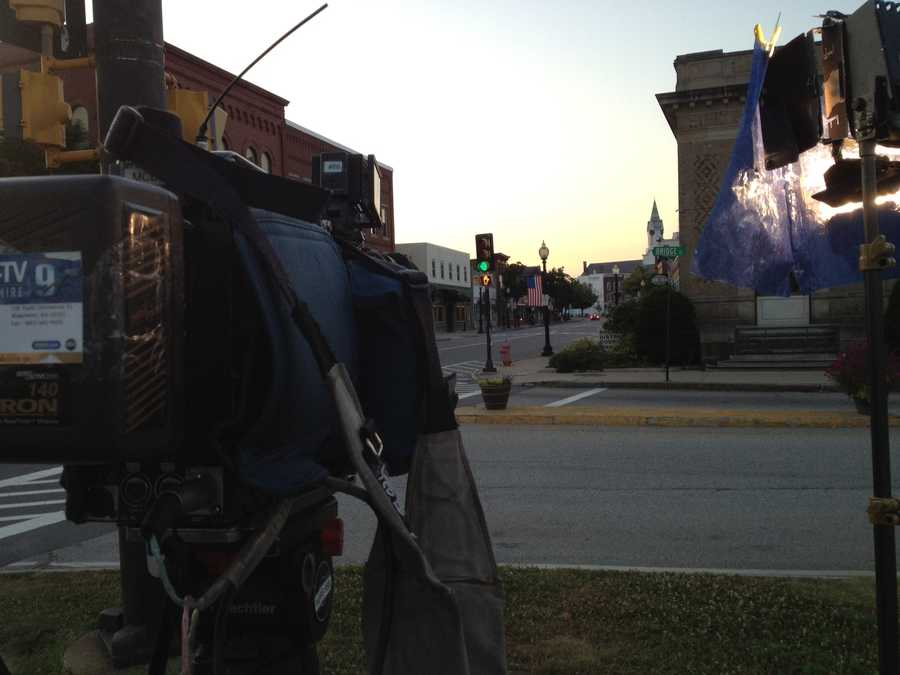 Set up for live shot in Rochester.