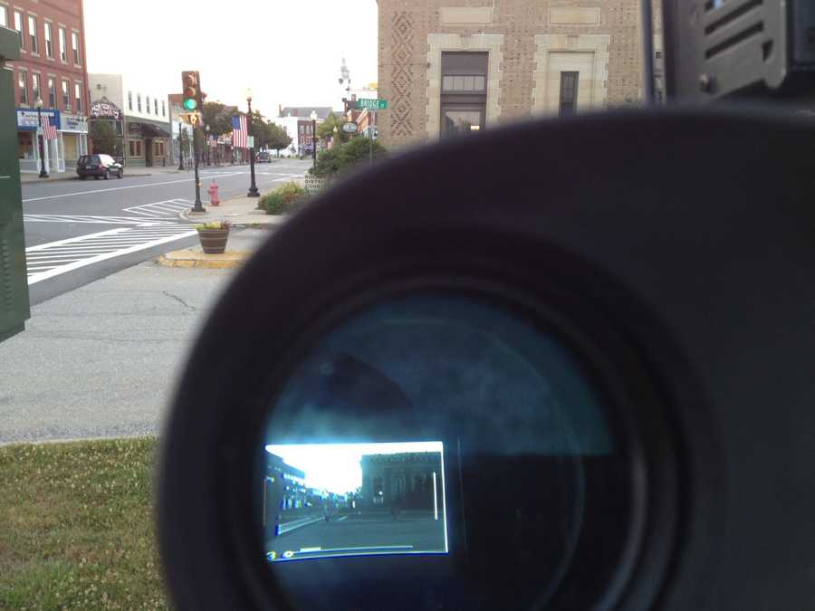 Image through the camera lens in Rochester.