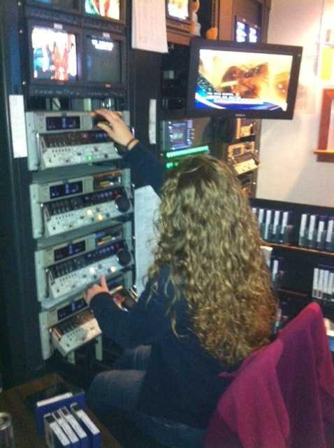 Sara Isabelle handling tapes for Daybreak.