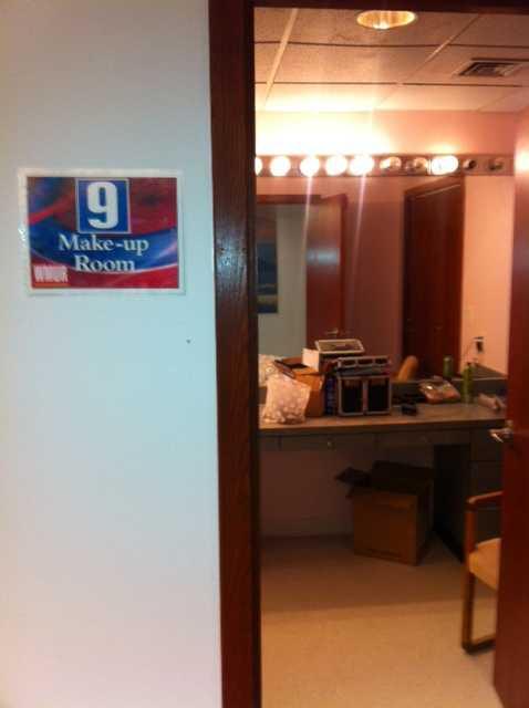 WMUR's make-up room.