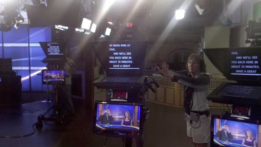 A view from the anchors' seats at the close of a show.