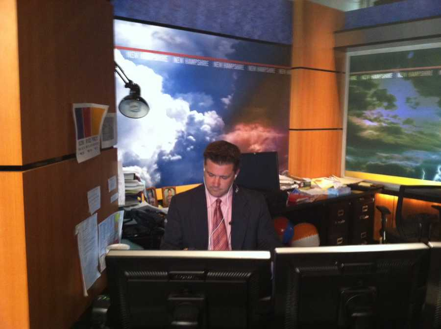 Kevin Skarupa updating forecasts during the show.
