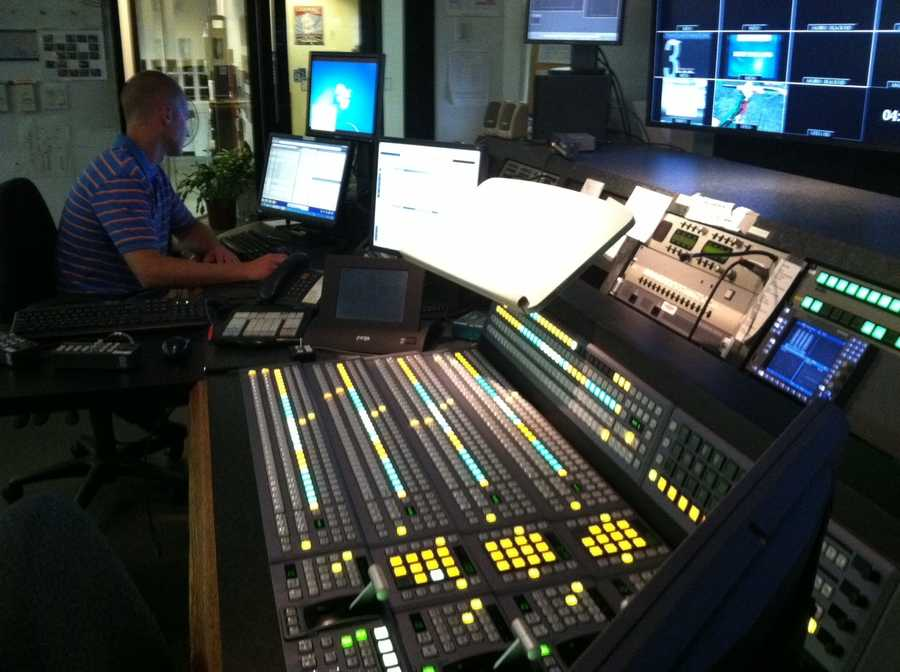 A view of the control room.