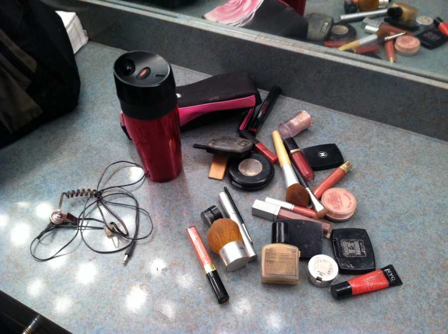 The tools of the make-up room.