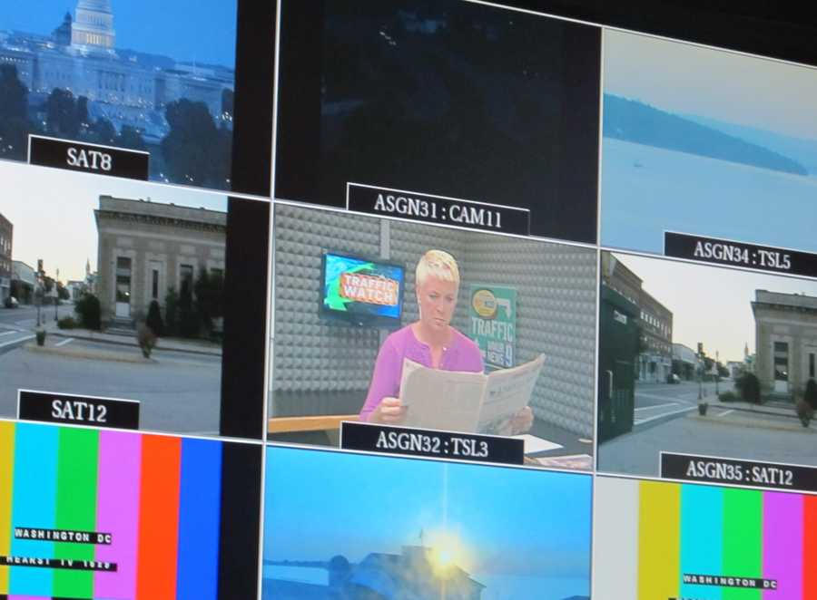 Monitoring Suzanne Roantree on a monitor in the control room just before 5 a.m.