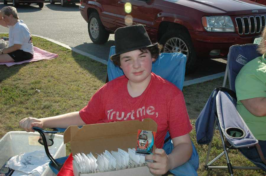 Alex Wheeler, 13, of Bow is one of NASCAR's biggest fans.