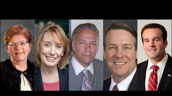 Candidates for gov split