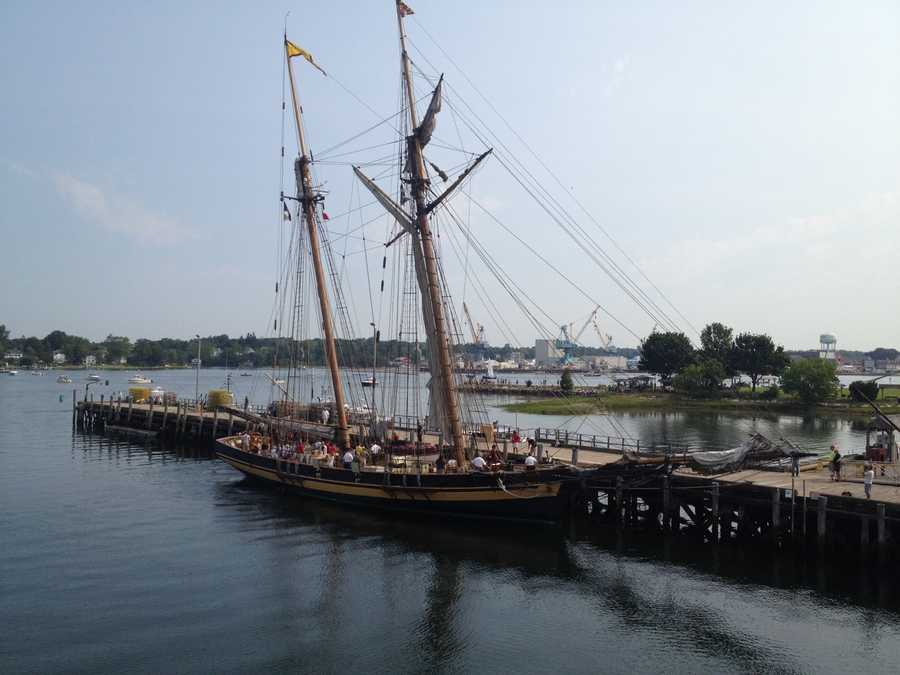 The Pride of Baltimore II was a ship designed to outrun British war ships in the 1700s.