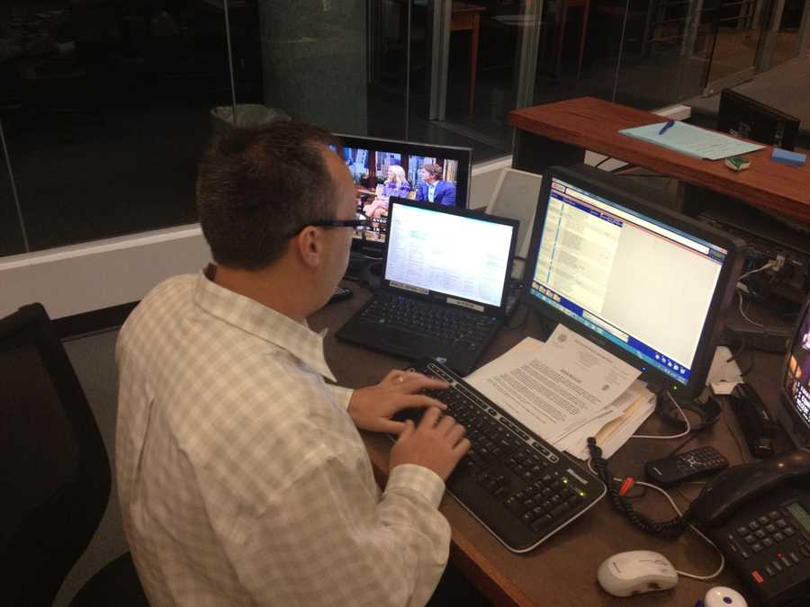 Assignment manager Dave Sakowich pulls together story ideas for the day and organizes crews.