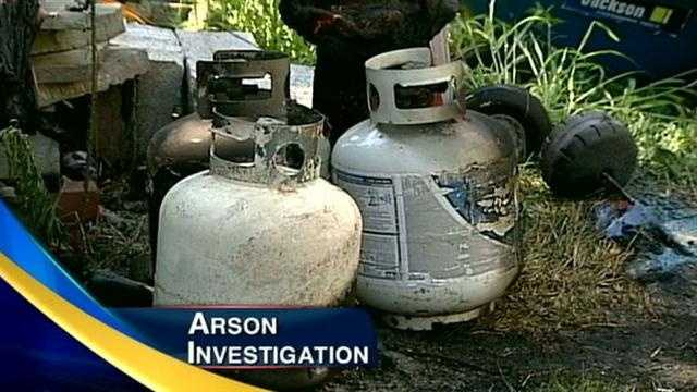 Propane tank 'arson' under investigation