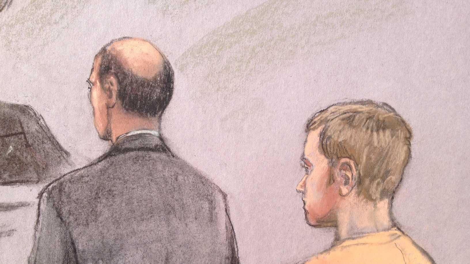 Casey James Fury courtroom sketch