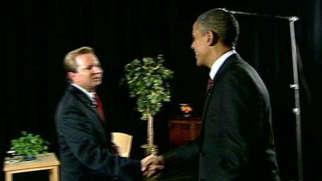 Political director Josh McElveen sits down with President Barack Obama to talk negative campaign ads.