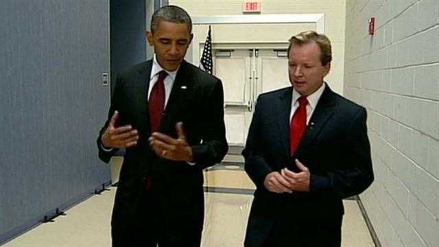Political Director Josh McElveen conducted the interview with President Obama.
