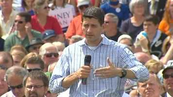 Ryan spoke first before handing off the mic to Romney.
